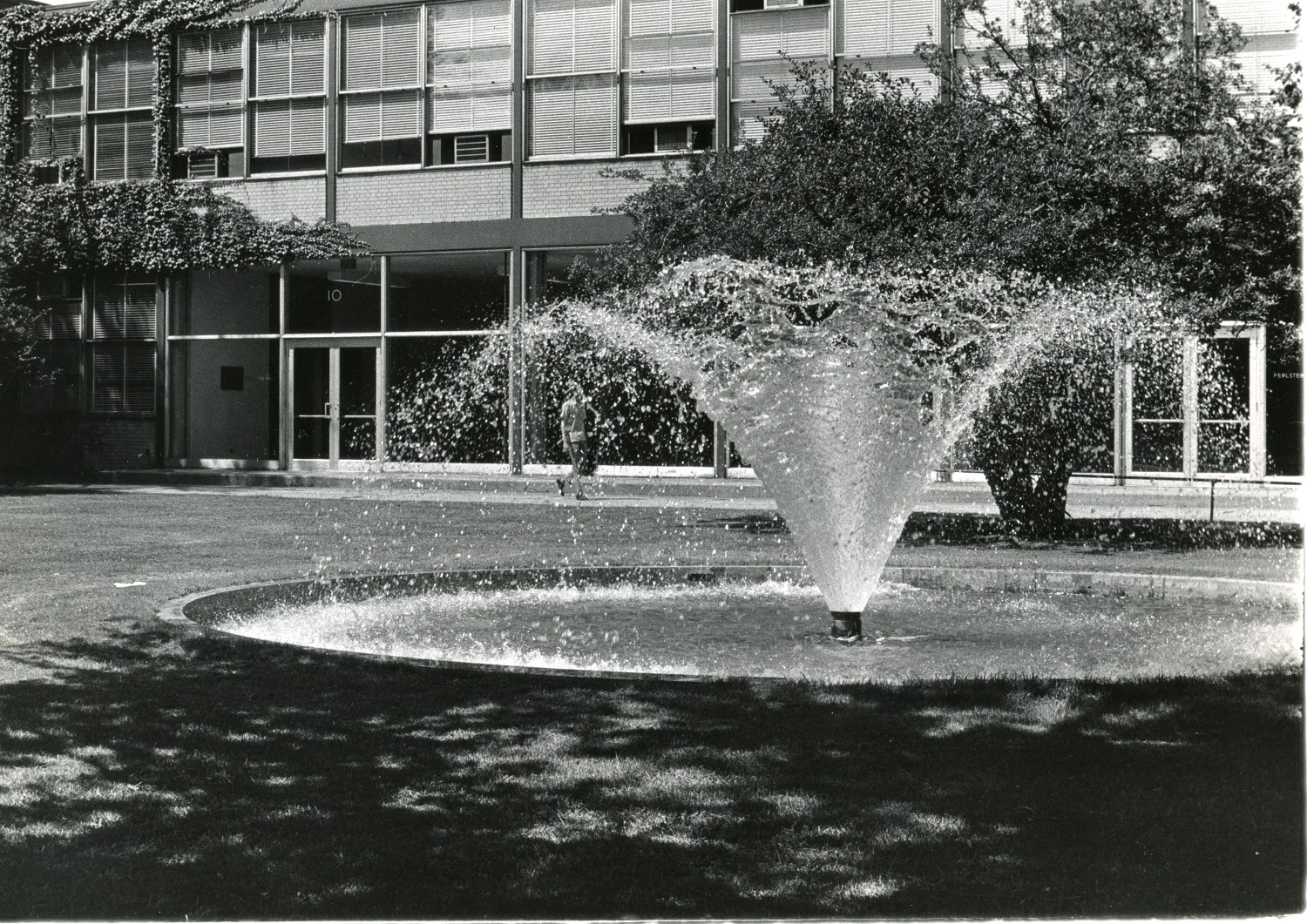Perlstein Hall and Fountain