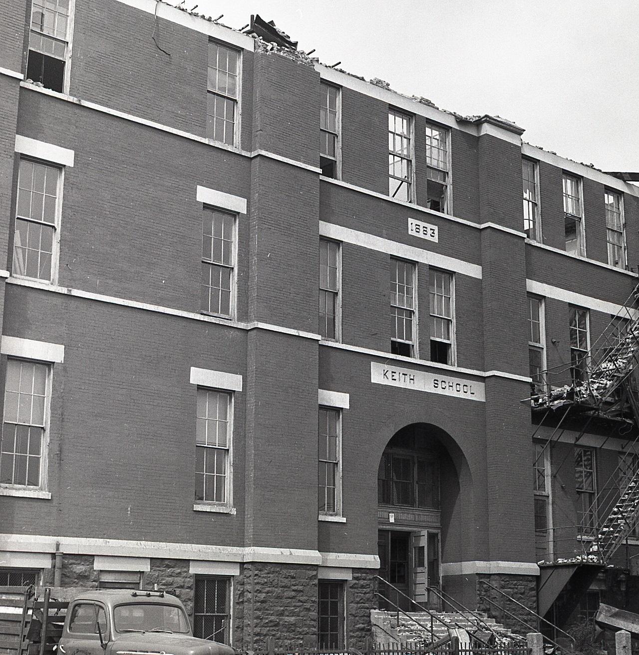 Keith School during demolition