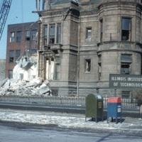 Brown Hall during demolition
