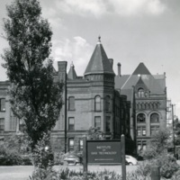 Armour Research Foundation Laboratory and Administration Building, with Armour Mission and Main Building in Background