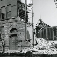 Chapin Hall during demolition