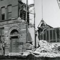 Chapin Hall during demolition