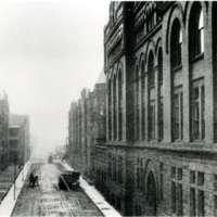 """Main Building and the """"Gorge"""" (Federal Street and the buildings that lined it)"""